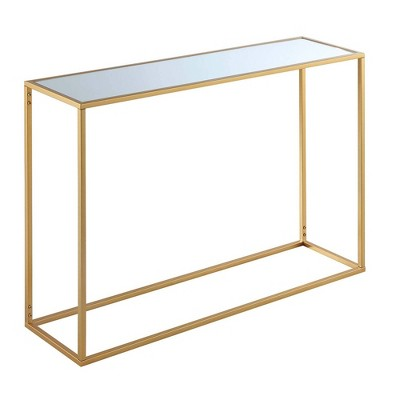 Gold Coast Mirrored Console Table Mirrored Top/Gold - Breighton Home