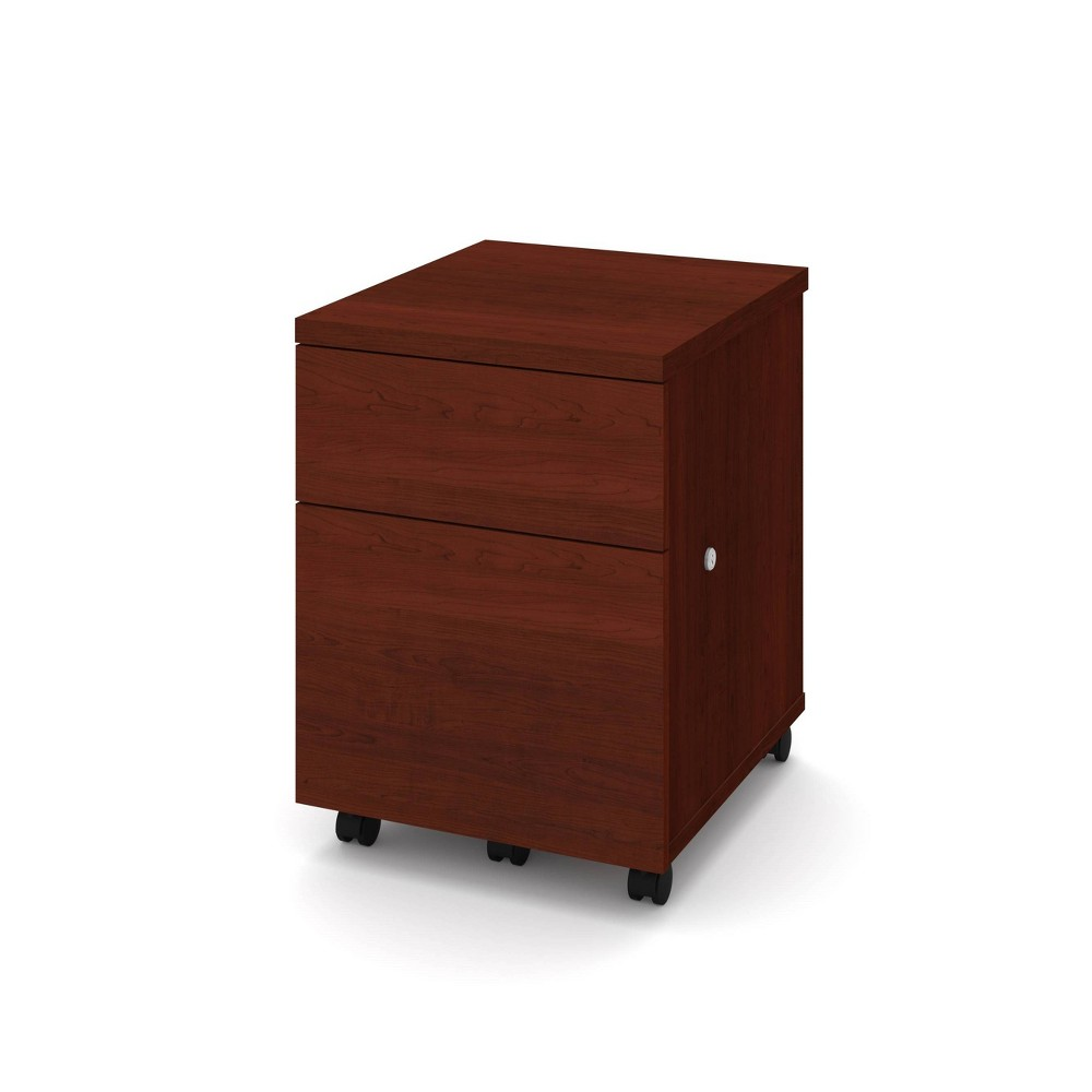 Image of 1U1F Mobile File Cabinet Bordeaux - Bestar, Red