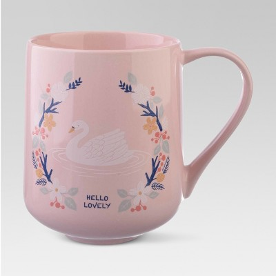 Porcelain Hello Lovely Mug 18oz Pink - Threshold™