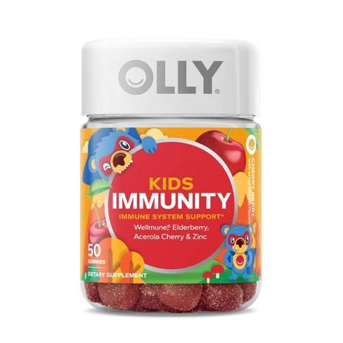 Kids Olly Immunity Vitamin Gummies Cherry Berry 50ct Target