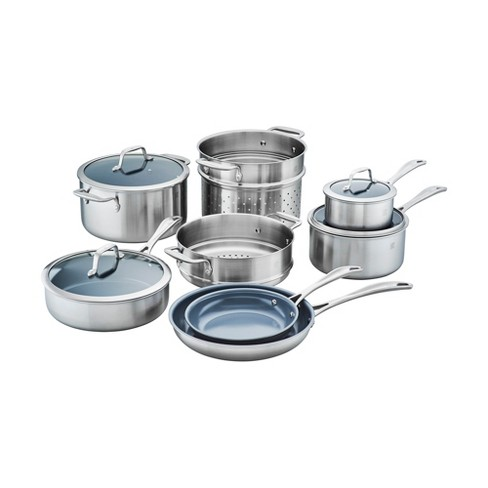 ZWILLING Spirit 3-ply 12-pc Stainless Steel Ceramic Nonstick Cookware Set - image 1 of 6
