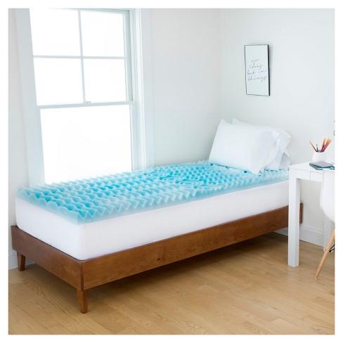 3 5 Zone Foam Dorm Mattress Topper Authentic Comfort Target