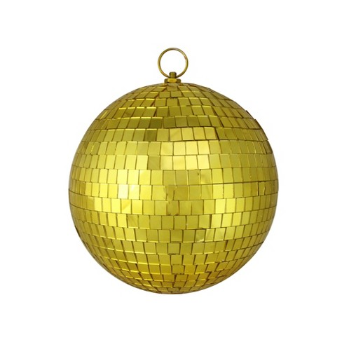 """Northlight 8"""" Mirrored Glass Disco Ball Christmas Ornament - Gold - image 1 of 1"""