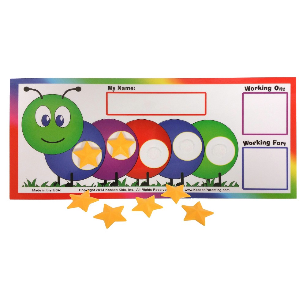 Image of Kenson Kids Token Board Caterpillar, Classroom Pack