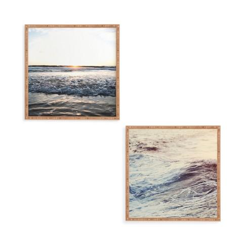 "12""x12"" 2pc Smash Framed Decorative Wall Art Set Blue - Deny Designs - image 1 of 1"