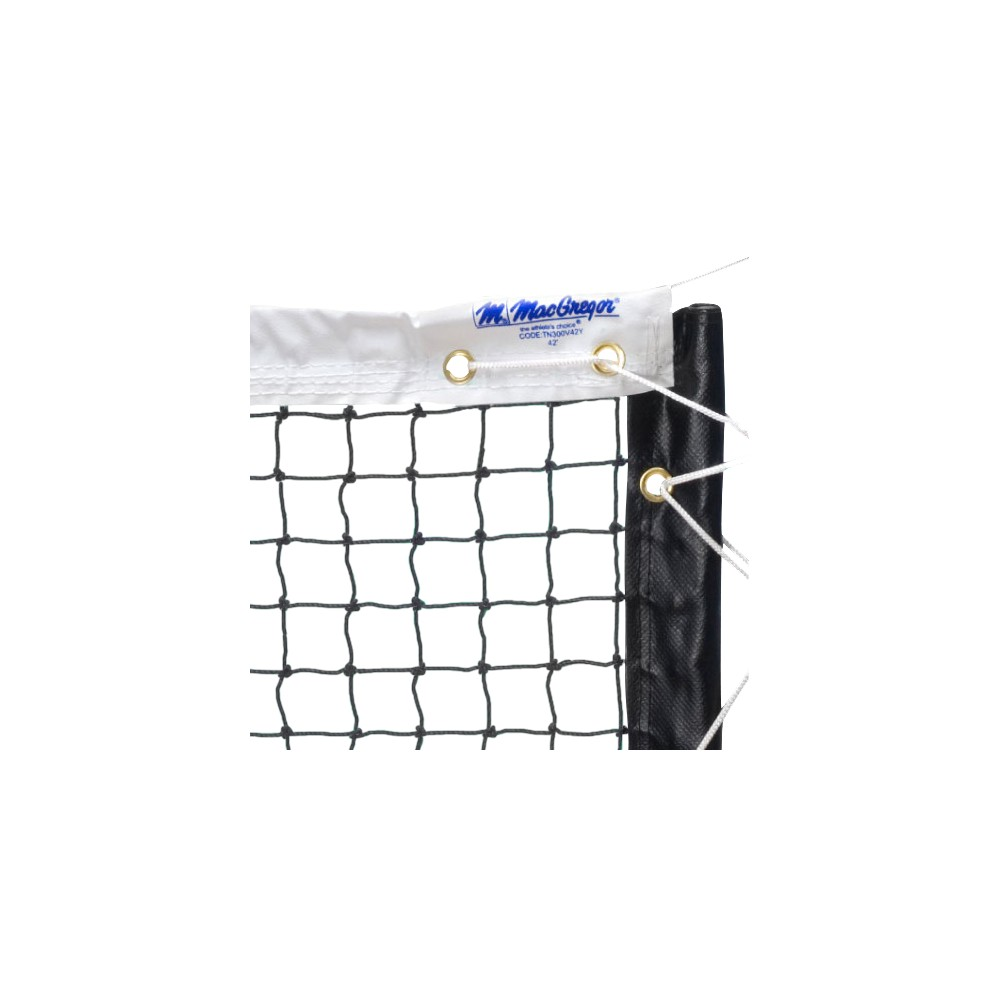 MacGregor Super Pro Tennis Net - White (42')