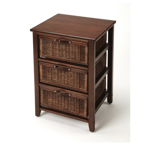 Falmouth Rattan Chairside Chest - Chocolate - Butler Specialty - image 1 of 3