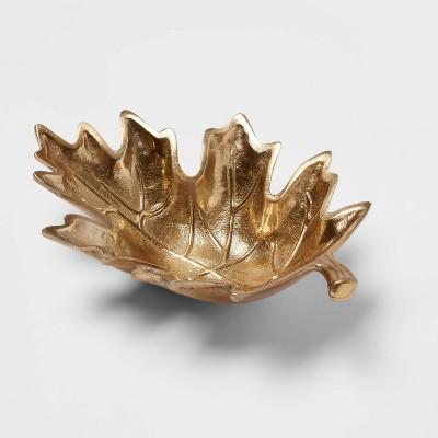 25oz Metal Leaf Serving Dish - Threshold™