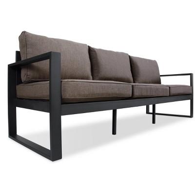 Superieur Baltic Metal Patio Sofa   Black   Real Flame