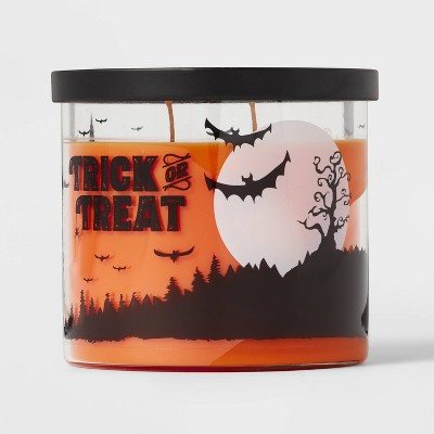 15oz Lidded Glass Jar Trick or Treat Candle - Hyde & EEK! Boutique™