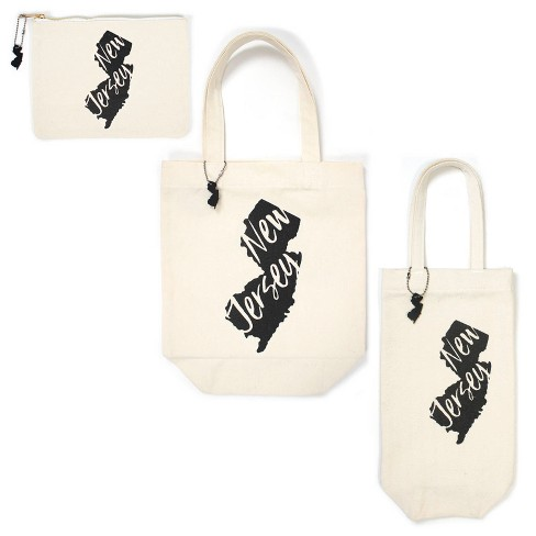 3pk New Jersey Totes Includes Zipper Pouch Tote Bag And Wine Cream Bullseye S Playground