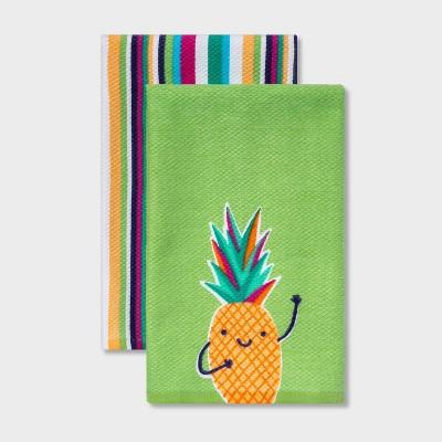 2pk Cotton Printed Kitchen Towels - Sun Squad™