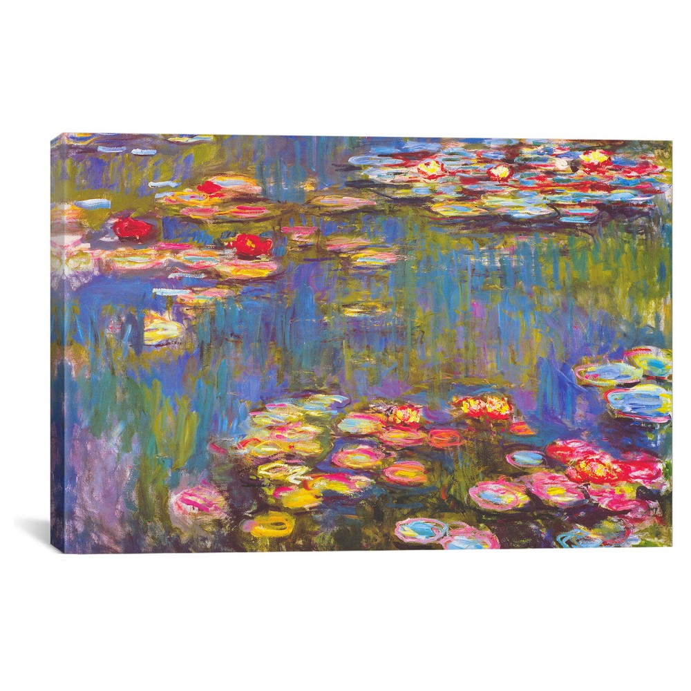 Water Lilies 1916 by Claude Monet Canvas Print (18