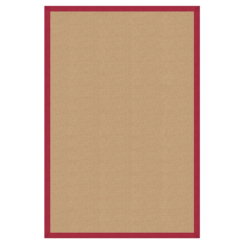 Athena Wool Area Rug - Red (4' X 6')