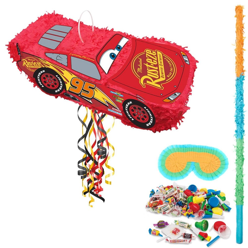 Disney Cars Lightning McQueen 3D Pinata Kit, Multi-Colored