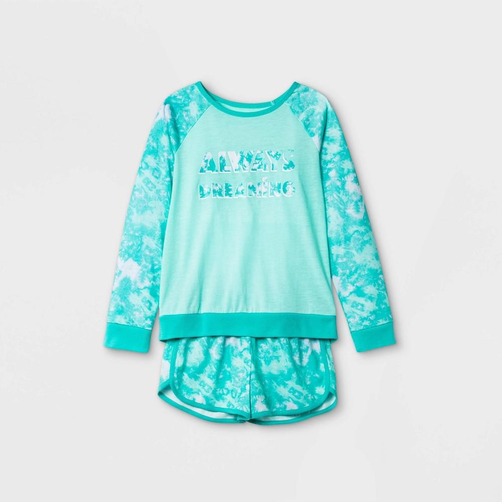 Girls 39 2pc 39 Always Dreaming 39 Tie Dye Pajama Set Cat 38 Jack 8482 Green Xs