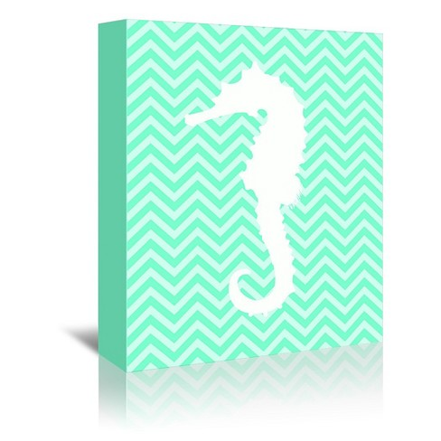 Americanflat Sea Chevron 2 By Samantha Ranlet Wrapped Canvas Target