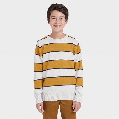 Boys' Rugby Striped Crew Neck Sweater - Cat & Jack™