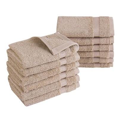 12pc Villa Washcloth Set Beige - Royal Turkish Towels