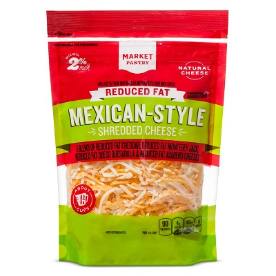 Reduced Fat Shredded Mexican Style Four Cheese Blend - 8oz - Market Pantry™
