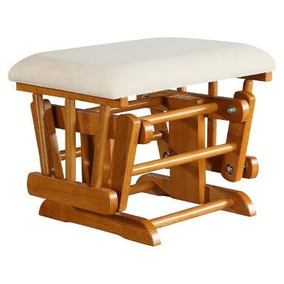 Baby Relax Upholstered Ottoman - Honey Pine