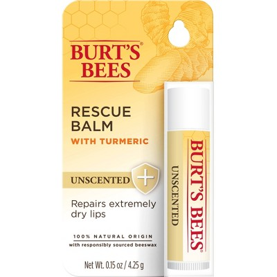 Burt's Bees Lip Balm Rescue Unscented Blister - 0.15oz