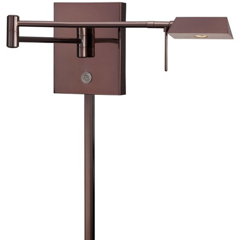 """Kovacs P4318-631 1 Light 6.25"""" Height LED Plug In Wall Sconce in Chocolate Chrome - image 1 of 1"""