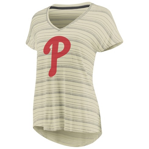 MLB Philadelphia Phillies Women's Starting Strong Cream Versalux T-Shirt - image 1 of 3