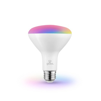 Smart 65W Equivalent White LED Wi-Fi Enabled Voice Activated BR30 E26 Frosted LED Light Bulb