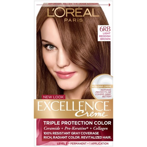 L Oreal Paris Excellence Triple Protection Permanent Hair Color 6rb Light Reddish Brown 1 Kit