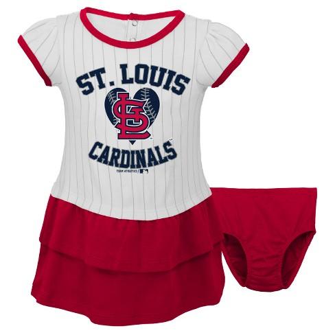 397fbd8f St. Louis Cardinals Toddler Girls' Pinstripe Dress & Bloomers Set 4T