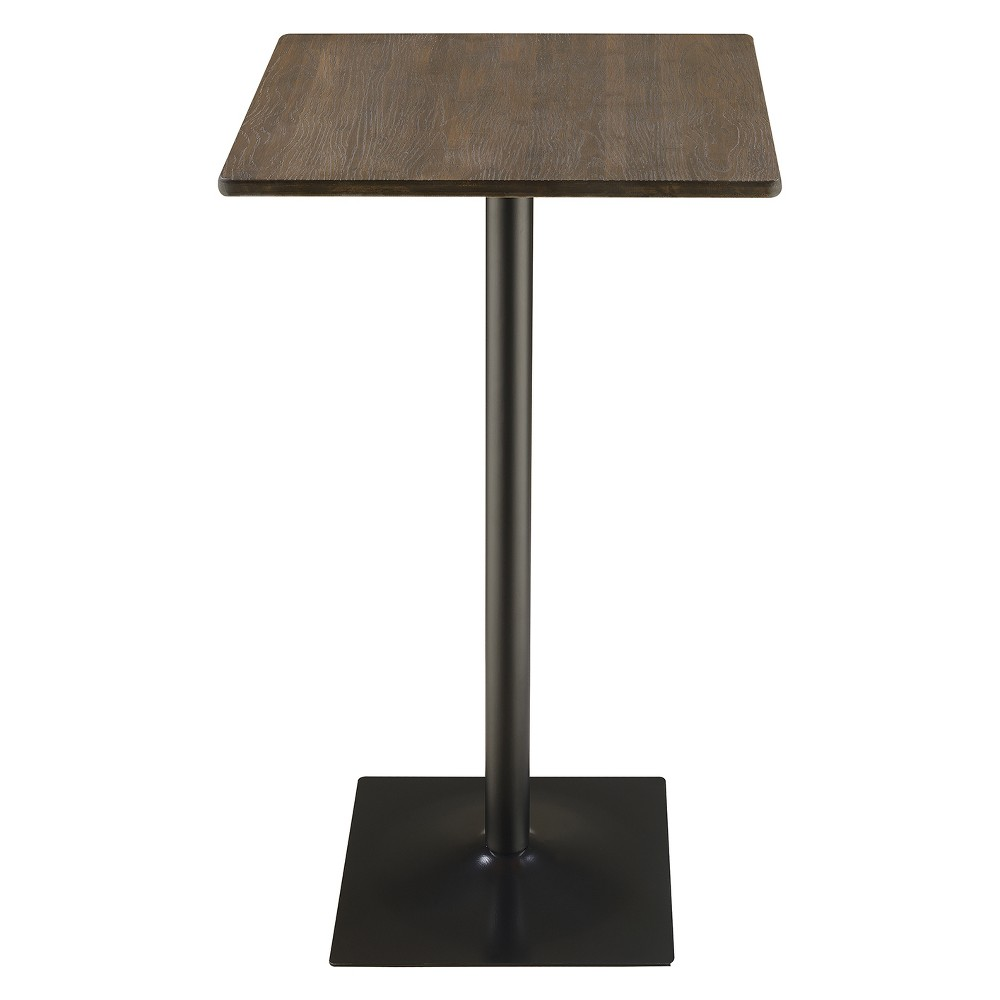 Private Reserves 23.5 Square Bar Table Dark Elm with Matte Black