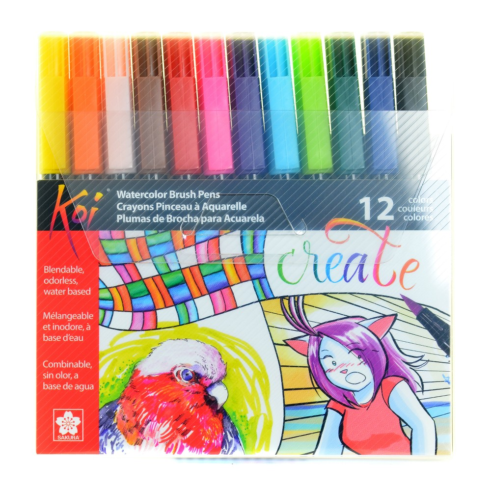 Image of Coloring Brush Pen Set - Koi 12ct