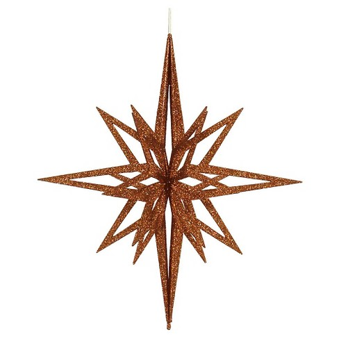 "24"" Copper Glitter 3D Star Christmas Ornament - image 1 of 1"