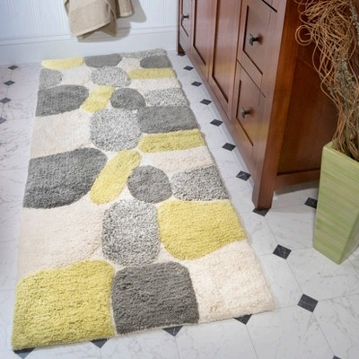 Yellow Gray Bath Rug Target, Grey And Yellow Bathroom Rugs