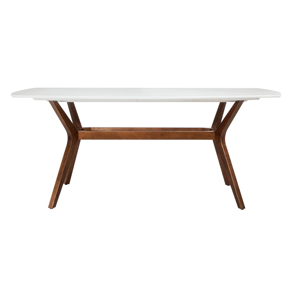 Emmond Mid Century 72 Dining Table White & Brown - Project 62
