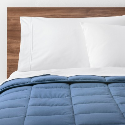 Light Blue Solid Down Alternative Comforter (King)- Made By Design™