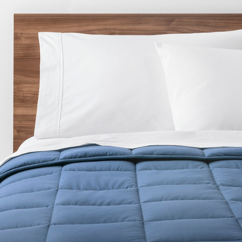 Light Blue Solid Down Alternative Comforter (King) - Made By Design