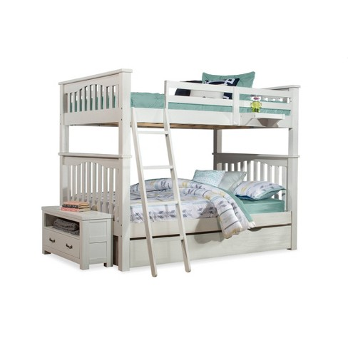 Full Full Highlands Harper Bunk Bed With Trundle And Nightstand White Hillsdale Furniture Target