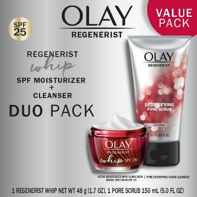 Olay Regenerist Whip Cleanser and Moisturizer - Duo Pack -  5.0 fl oz/1.7oz