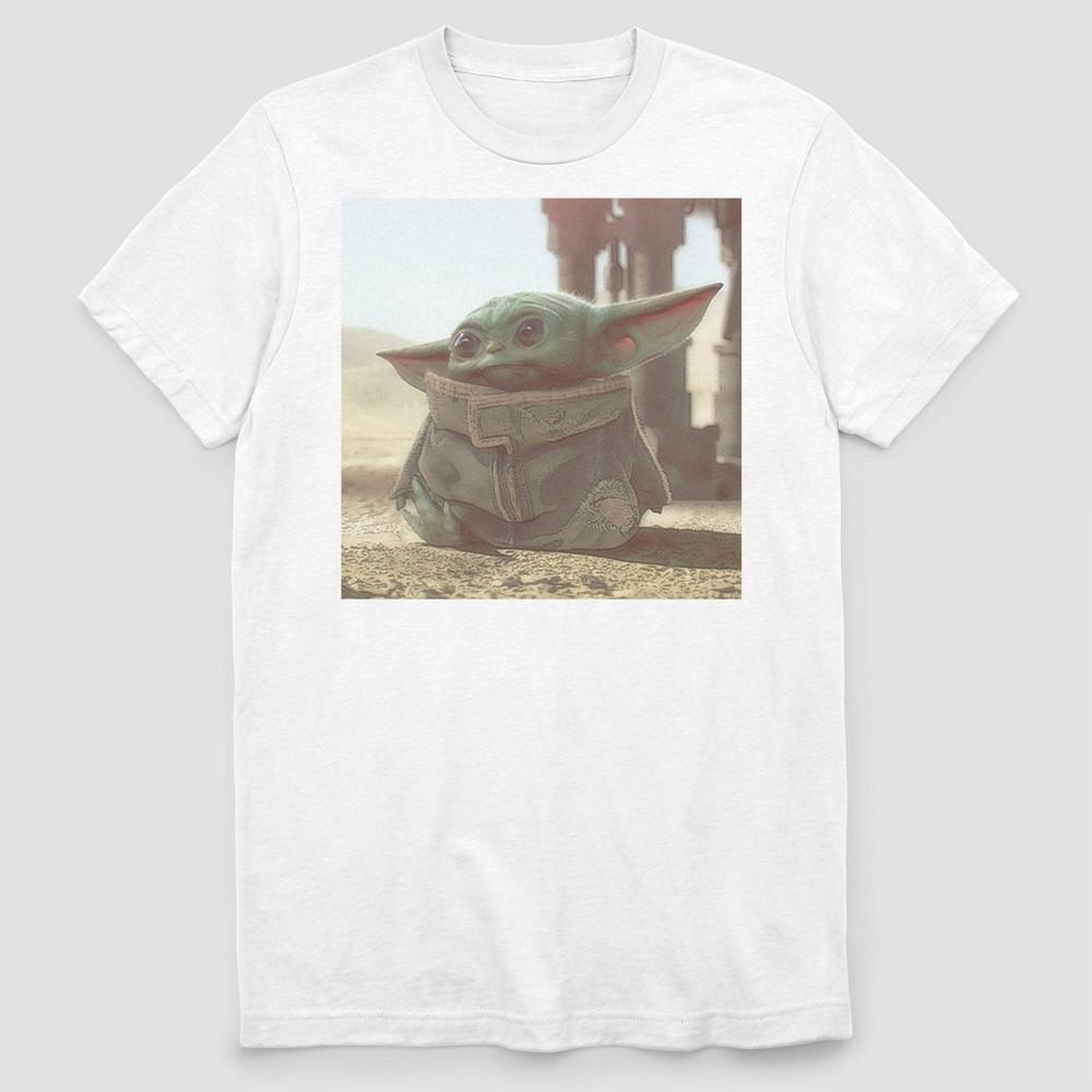 Men 39 S Disney The Mandalorian Child Short Sleeve Graphic T Shirt White M
