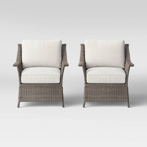 Foxborough 2pk Patio Club Chair - Threshold™ - image 1 of 4