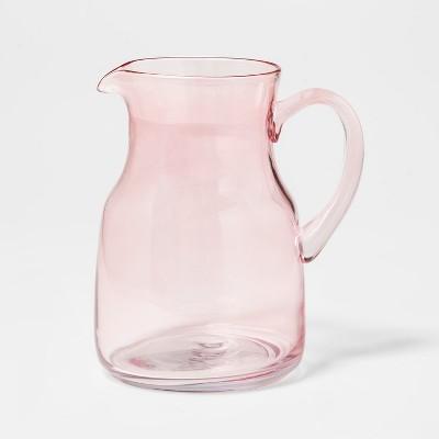 78oz Glass Beverage Pitcher Pink - Threshold™