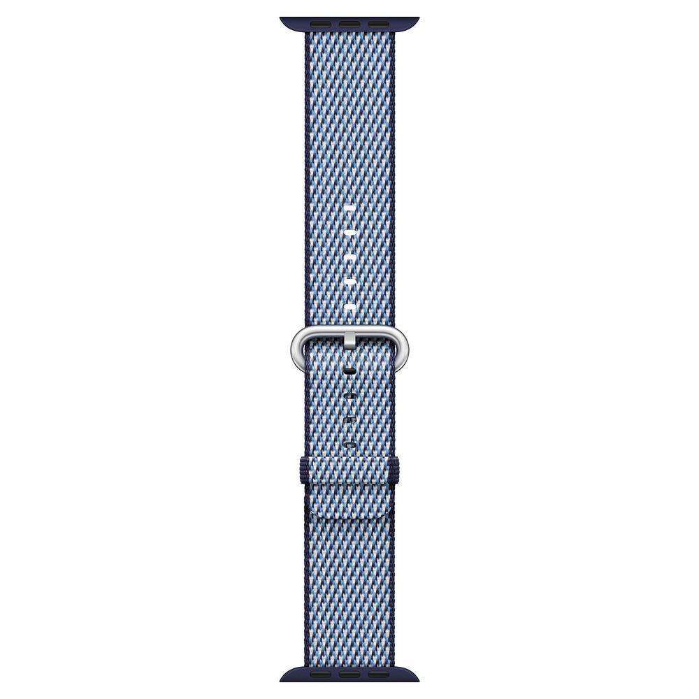 Apple Watch 42mm Check Woven Nylon Band - Midnight Blue
