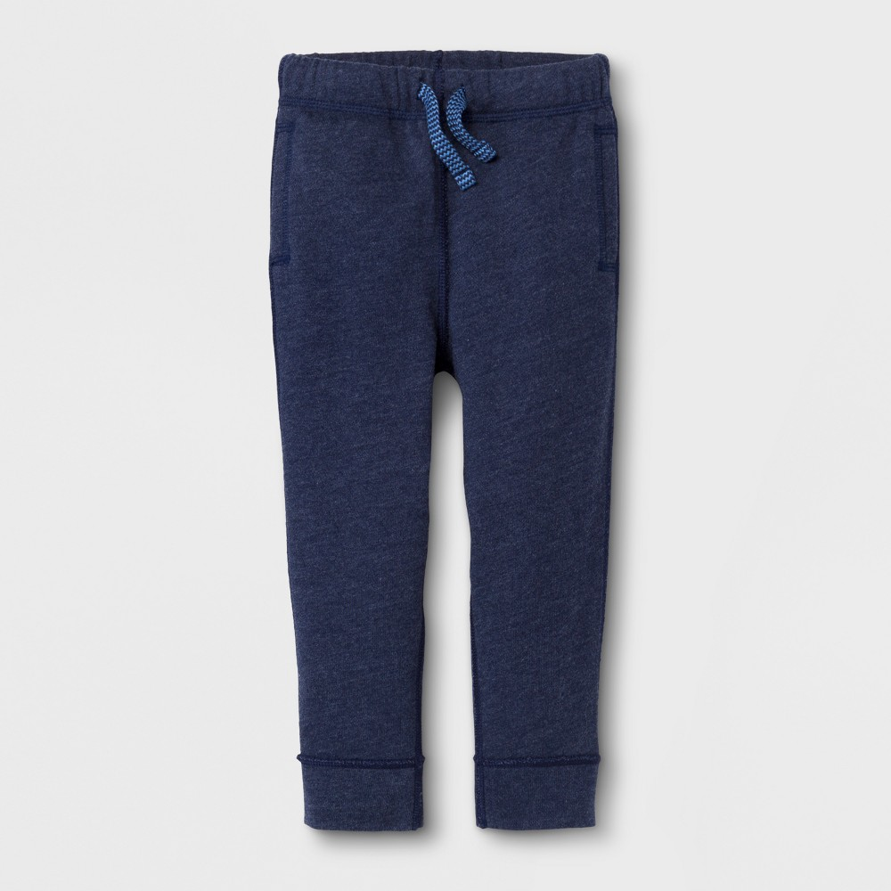 Toddler Boys' Adaptive Knit Jogger - Cat & Jack Navy 3T, Blue