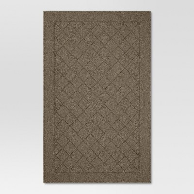 2'6 X4' Diamond Tufted And Hooked Washable Accent Rug Brown - Threshold™