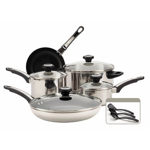 Farberware Stainless Steel 12Pc Cookware Set - image 1 of 11