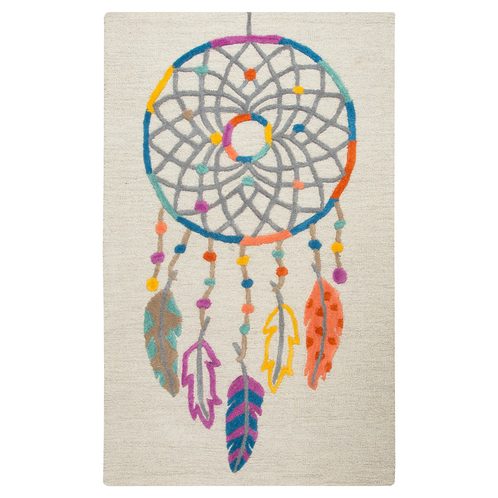Image of Ivory Dream Catcher Area Rug (3'x5') - Rizzy Home