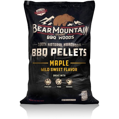 Bear Mountain BBQ 100% Natural Hardwood Maple Mild Sweet Flavor Pellets for Smokers and Outdoor Grills, 20 Pound Bag