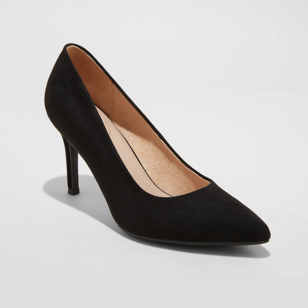 Women 39 S Gemma Microsuede Pointed Toe Heels A New Day 8482 Black 8 5